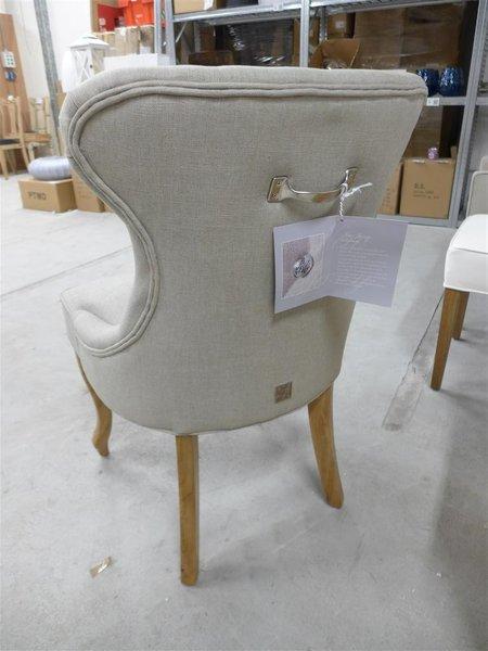 Aanbieding Eetkamerstoelen Riviera Maison.Stoel Riviera Maison George Dining Chair Linnen Flax Nieuw In Doos