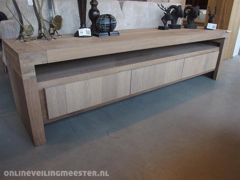 Gerookt Eiken Meubels : Tv dressoir gerookt eiken greywash lxbxh ca. 186x45x50cm
