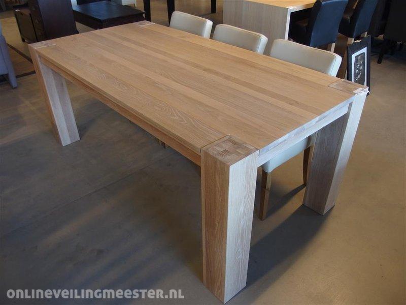 Eetkamertafel, blank eiken mat gelakt, lxbxh ca. 200x100x80cm ...