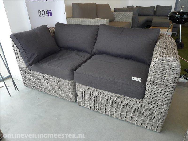 Lounge Bankje 2 Zits.Loungebank 2 Zits Kunstriet 2 Delig Inclusief Kussens Afm Lxdxh Ca 180x90x45 75cm