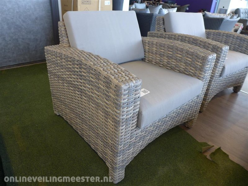 All Weather Kussens : Loungestoel so model mambo kunststof inclusief all weather