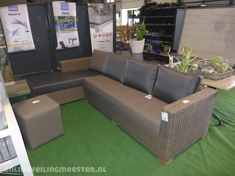 All Weather Kussens : Loungeset life model moray afm. lxbxh ca. 290 180x90x70 cm