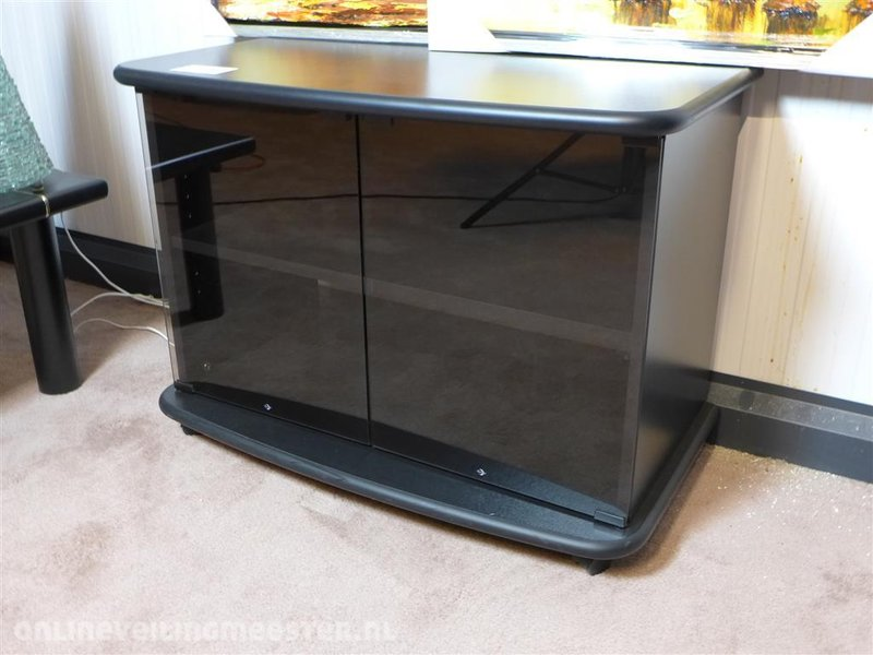 Tv meubel mdf zwart glazen deur hxbxd ca cm