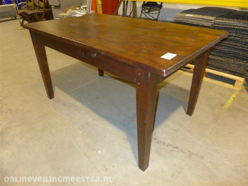 Side Table Met Lade.Eetkamertafel Koloniaal Voorzien Van 2x Lade Lxbxh Ca