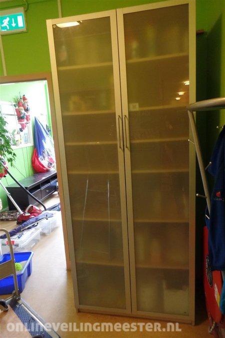 Kledingkast Hangkast Ikea.Kast Ikea Pax Drammen 2 Melkglazen Deuren 6 Legplanken