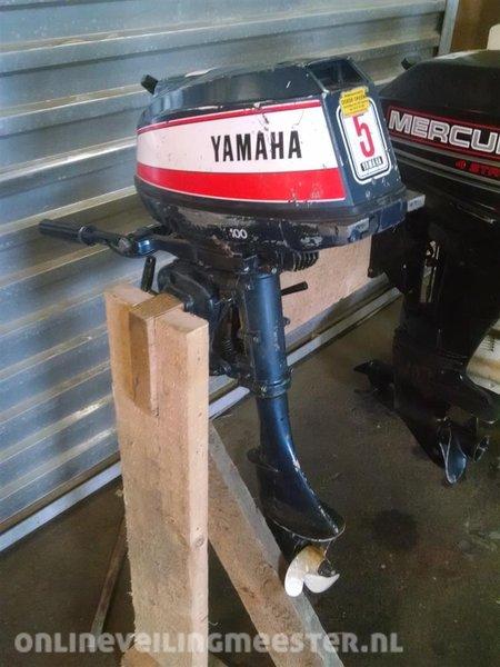 Beste Buitenboordmotor Yamaha 5 pk, 2 takt, kortstaart, heeft onderhoud BP-55