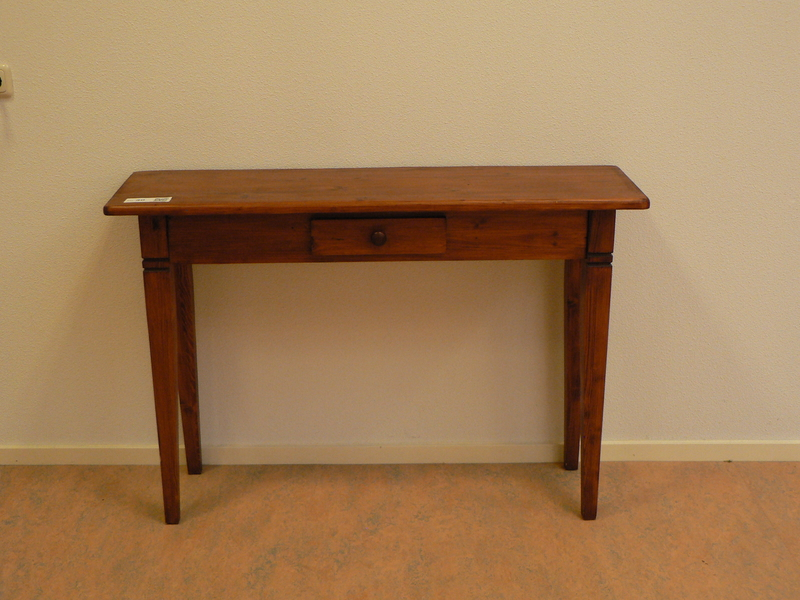 Side Table Met Lade.Side Table Met Lade In Donker Gebeitst Blank Hout Afm Bxhxd Ca