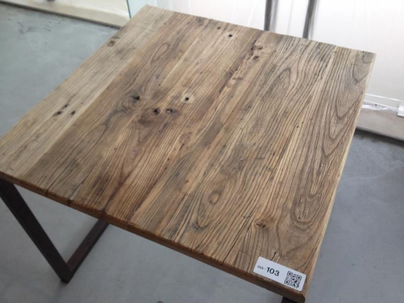 Tafel Stalen Frame : Tafel stalen frame met massief houten blad afm ca cm