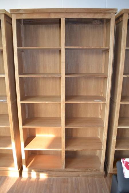 Boekenkast, teak, 12 vakken, hxb ca. 120x230cm - Onlineauctionmaster.com