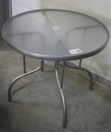 Ronde Aluminium Tuintafel Met Glasplaat.Glazen Tuintafel Glazen Tuintafel Xd Glazen Tuintafel Te Koop In