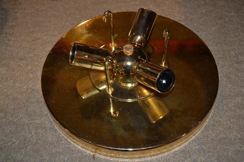 Plafonniere Met Kristallen : Plafonniere messing met geslepen kristallen pegels diameter ca