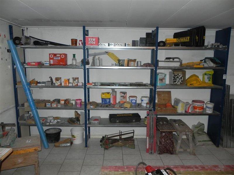 Magazijn Stelling Metaal.Metalen Magazijn Garage Stelling Met Extra Planken